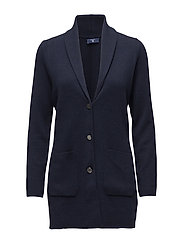 O1. KNITTED BLAZER - EVENING BLUE