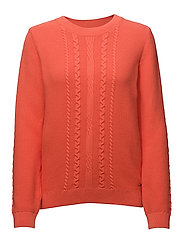 O2. LIGHT CHUNKY CABLE CREW - STRONG CORAL