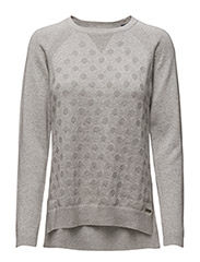 TEXTURED DOT CREW - LIGHT GREY MELANGE