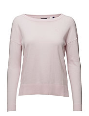 CASUAL COTTON CASHMERE CREW - LIGHT PINK