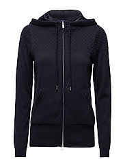 TECH PREP TEXTURED HOODIE - EVENING BLUE