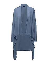 FINE MERINO WOOL WRAP CARDIGAN - NIGHTFALL BLUE