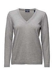 FINE MERINO WOOL V-NECK