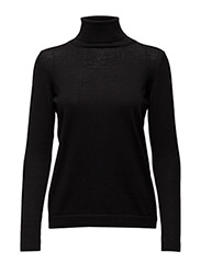 FINE MERINO WOOL TURTLENECK - BLACK
