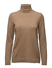 FINE MERINO WOOL TURTLENECK - OCHRE
