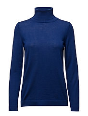 FINE MERINO WOOL TURTLENECK - YALE BLUE