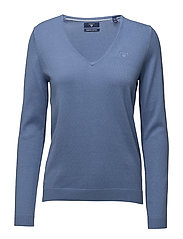 SOFT COTTON V-NECK - NIGHTFALL BLUE