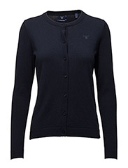 COTTON WOOL CREW CARDIGAN - EVENING BLUE