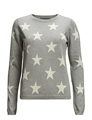 STARS JUMPER - LIGHT GREY MELANGE