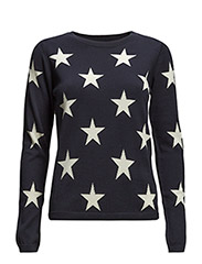 STARS JUMPER - THUNDER BLUE