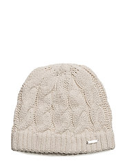 O1.CABLE BEANIE - CREAM