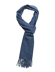 SOLID LAMBSWOOL WOVEN SCARF - HURRICANE BLUE