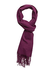 SOLID LAMBSWOOL WOVEN SCARF - RASPBERRY PURPLE
