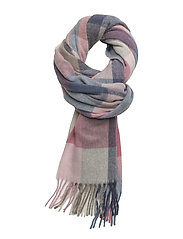 OP1. MULTICHECK LAMBSWOOL SCARF - BRANDY APRICOT