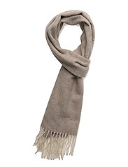 O1. TWILL LAMBSWOOL SCARF - FALCON GREY