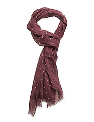 O1.  POLKA DOT SCARF - PURPLE WINE