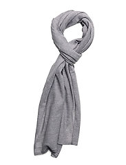 O2. FINE MERINO WOOL SCARF - LIGHT GREY MELANGE