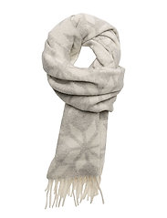 OP1. WINTER STAR LAMBSWOOL SCARF - LIGHT GREY MELANGE