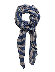 O.CAMO STRIPED SCARF - HURRICANE BLUE