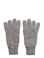O1.COTTON BLEND GLOVES - DARK GREY MELANGE