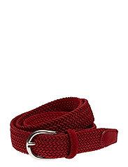 O. ELASTIC BRAID BELT - BRIGHT RED