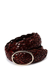 HAND BRAIDED LEATHER BELT - CHOCOLATE