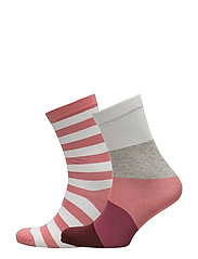 OP1. PASTEL STRIPE SOCKS GIFT BOX - BRANDY APRICOT
