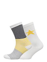 O. STRIPES & STARS 2-PACK SOCKS - MANGO