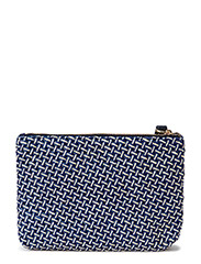 HAMPTONS POOL STRAW CLUTCH - EVENING BLUE