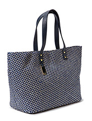 HAMPTONS POOL STRAW BAG - EVENING BLUE