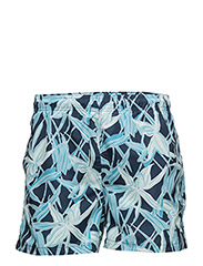 CAPE FLOWER SWIM SHORTS C.F - NAVY