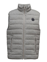 O. THE MAJOR PARK VEST - DARK GREY MELANGE