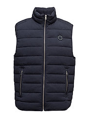O. THE MAJOR PARK VEST - NAVY