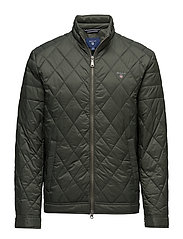 THE QUILTED WINDCHEATER - COUNTRY GREEN
