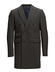 W. THE TAILORED DB COAT - DARK ANTRACIT MELANGE