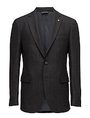 O1. THE HERRINGBONE BLAZER T - DARK GRAPHITE