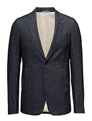 R1. COTTON TWILL BLAZER - BLACK NAVY