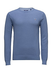 COTTON PIQUE CREW - NIGHTFALL BLUE
