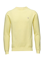 COTTON PIQUE CREW - LIGHT YELLOW