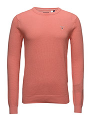 COTTON PIQUE CREW - SHELL PINK