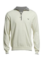 L. PIMA COTTON TIPPED ZIP - CREAM