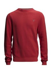 COTTON PIQUE CREW - CYKLAMEN RED