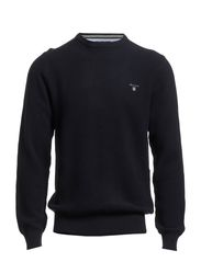 COTTON PIQUE CREW - EVENING BLUE