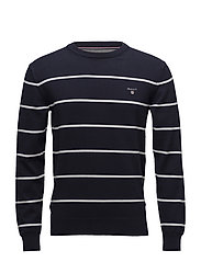 O1. STRETCH COTTON BRETON CREW - EVENING BLUE