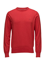 LT. WEIGHT COTTON CREW - BRIGHT RED MEL