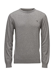 LT. WEIGHT COTTON CREW - GREY MELANGE