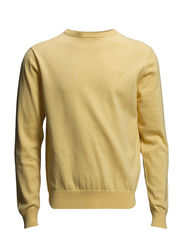 LT. WEIGHT COTTON CREW - LIGHT SUN MELANGE