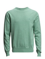 LT. WEIGHT COTTON CREW - LT GREEN MELANGE