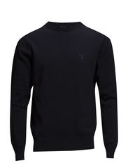 LT. WEIGHT COTTON CREW - NAVY