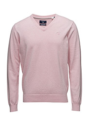 LT. WEIGHT COTTON V-NECK - CALIFORNIA PINK MELANGE